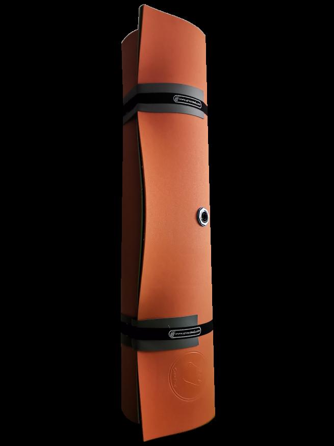 Crocpad floating water mat 5.5m - rolled orange